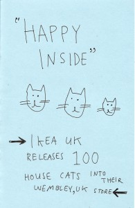 "Unpublished zine ""Happy Inside"""